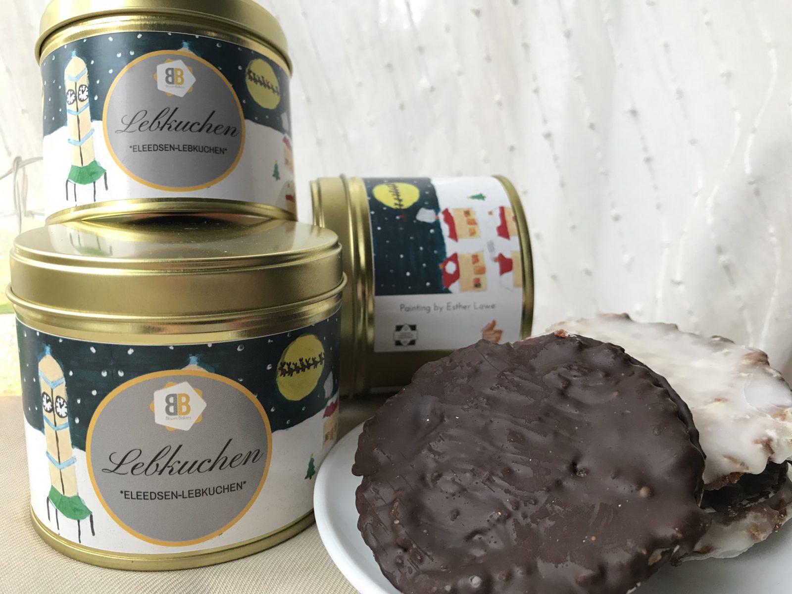 Eleedsen-Lebkuchen tin featuring Oakwood Clock