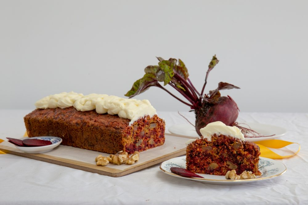 Beetroot and Ginger cake scene