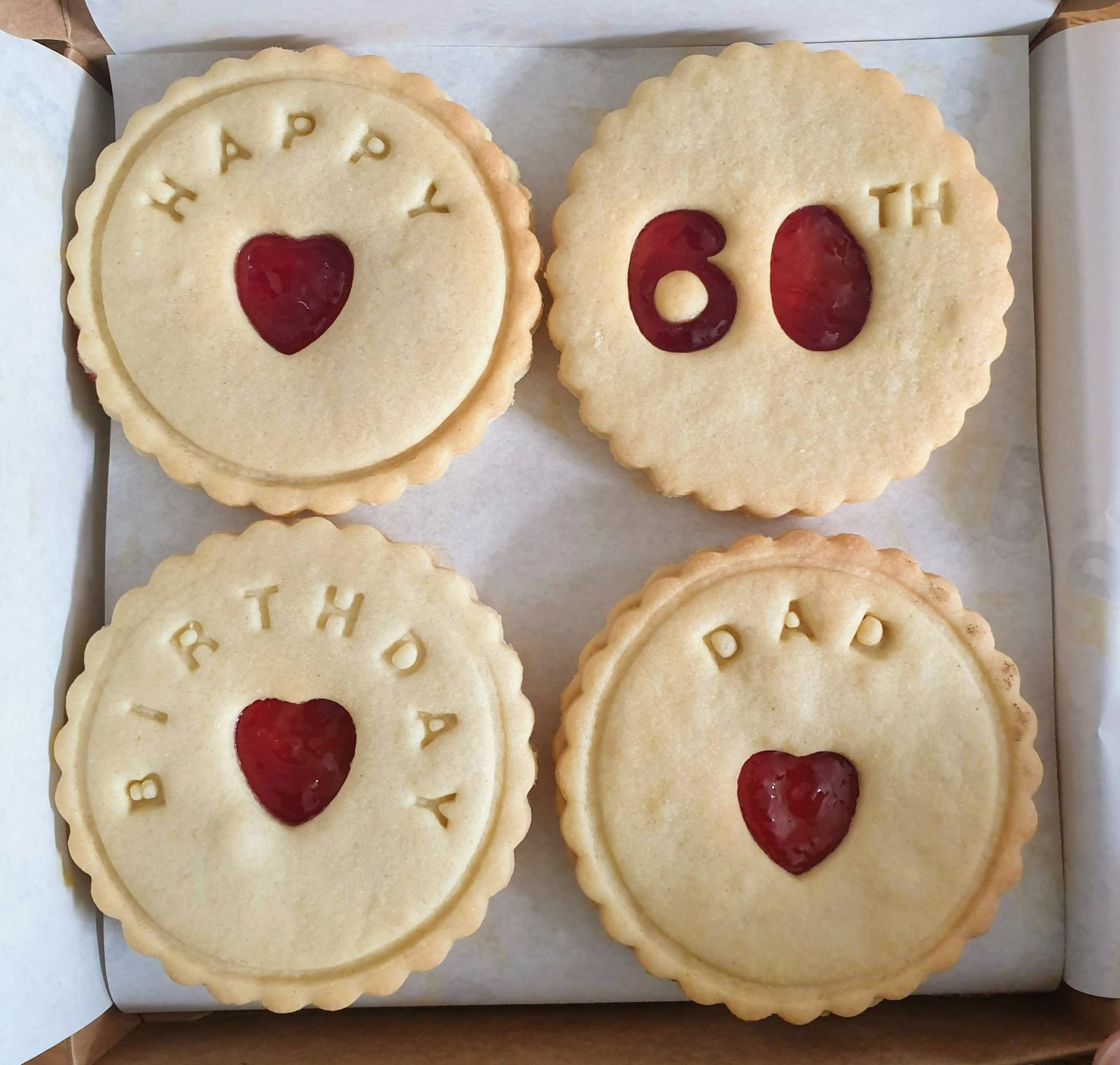 60th birthday biscuits