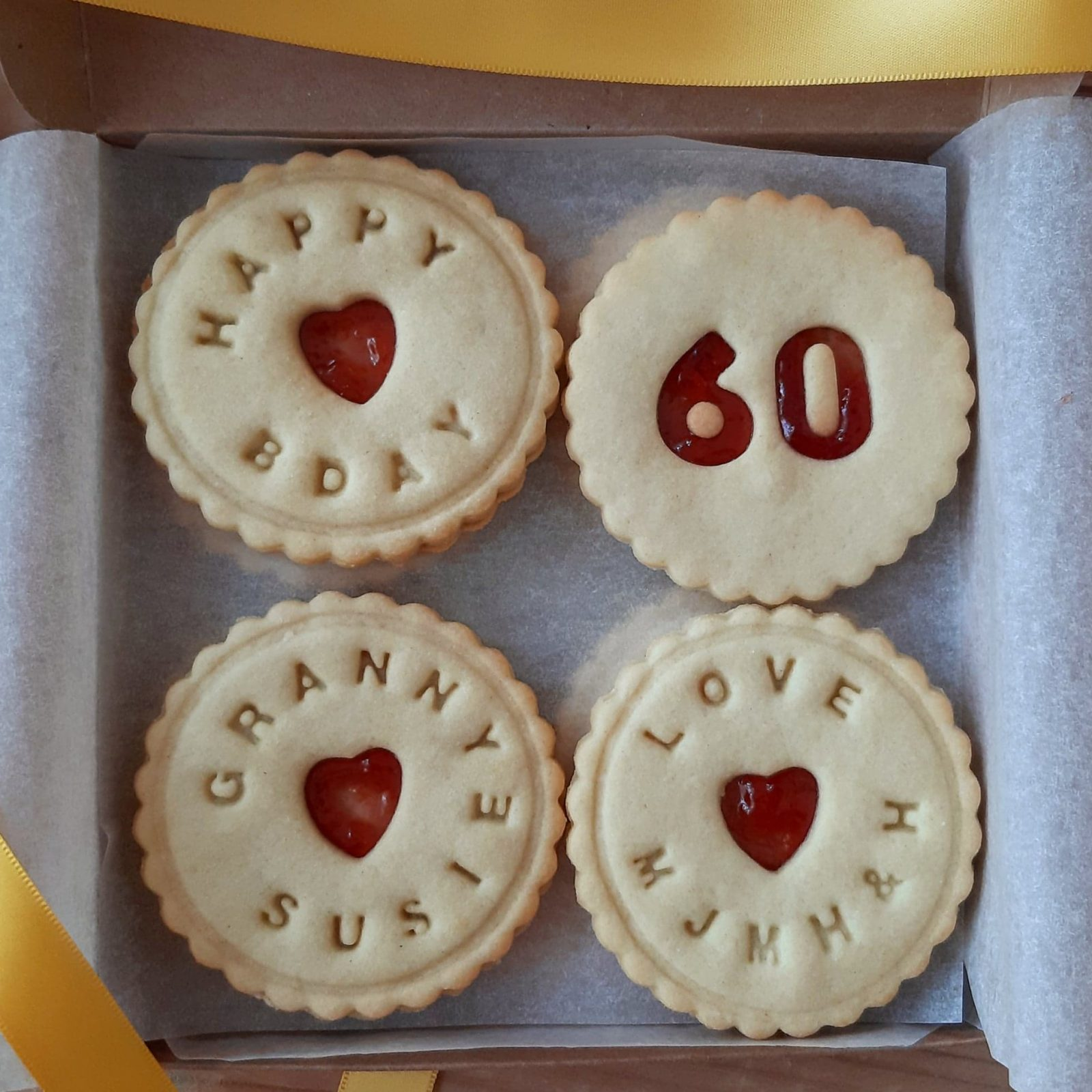 Example of a Bloom Bakers Birthday Biscuit Box