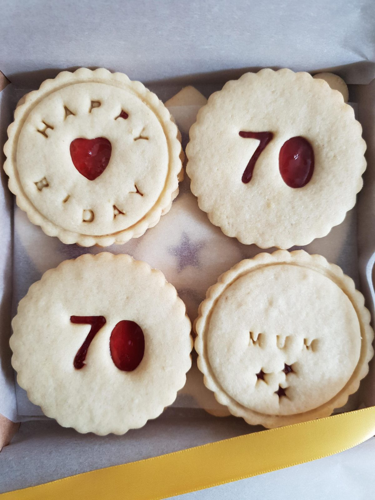 70th Birthday biscuits