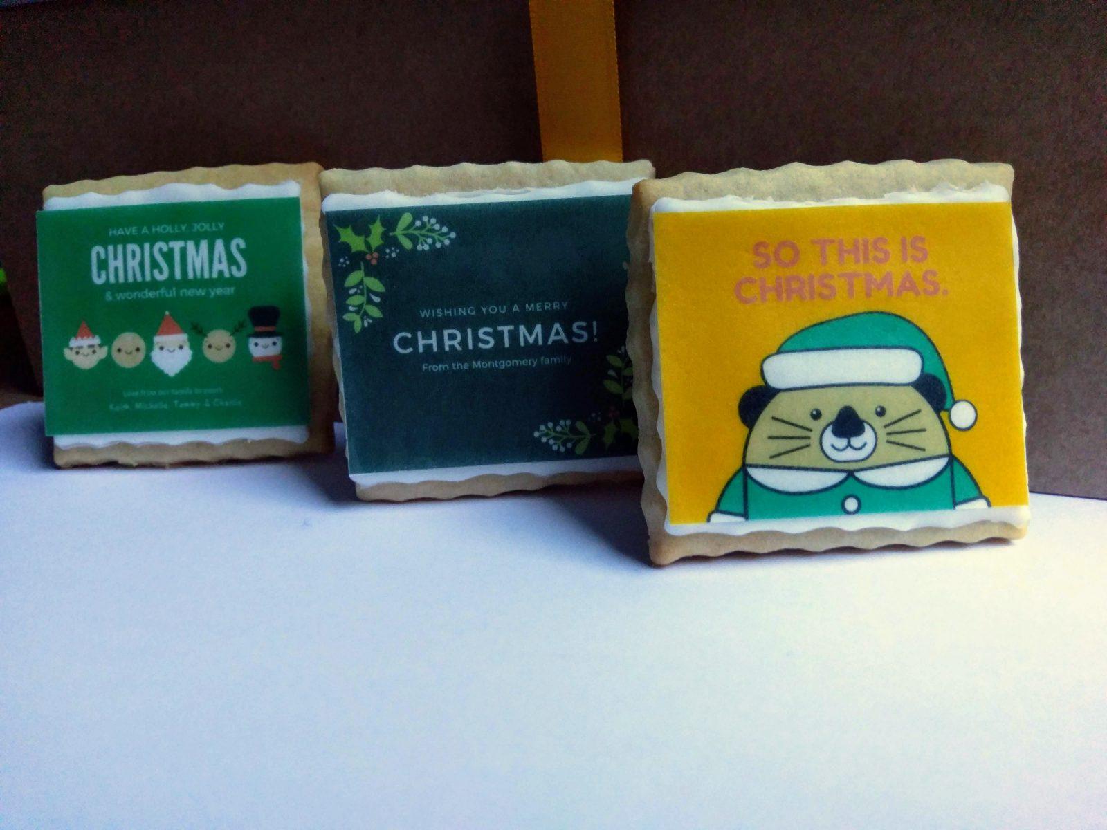 Edible Christmas card to send through the post