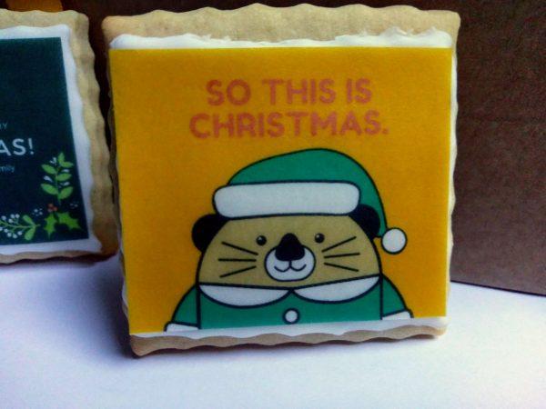 Edible Christmas card