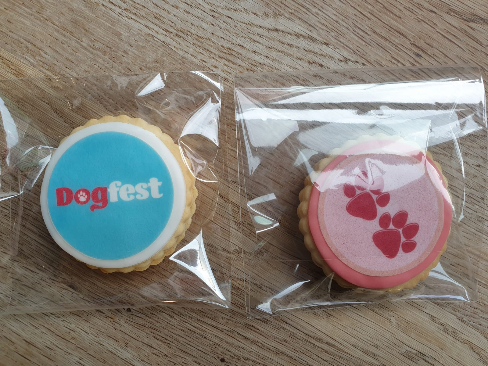 Dog Fest Dog Paw biscuits made by Bloom Bakers
