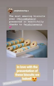Christening biscuits collaboration with influencer and Bloom Bakers