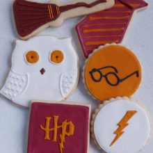 Hand iced Haary Potter cookies