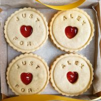 Just for you biscuits handmade by Bloom Bakers