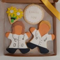 NHS doctor and nurse biscuits handmade made by bloom bakers