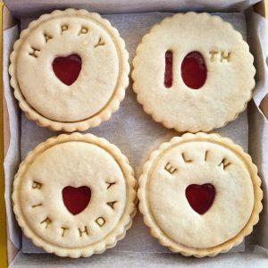 luxury birthday biscuits
