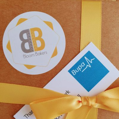 Bupa and Bloom Bakers logos