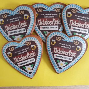 Lebkuchen hearts made by bloom bakers
