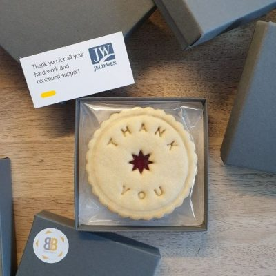 Jeld Wen thank you jam biscuits by Bloom Bakers