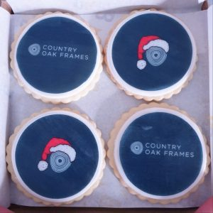 country Oak frames christmas biscuits
