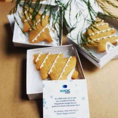 Christmas biscuits hand finished for JTI