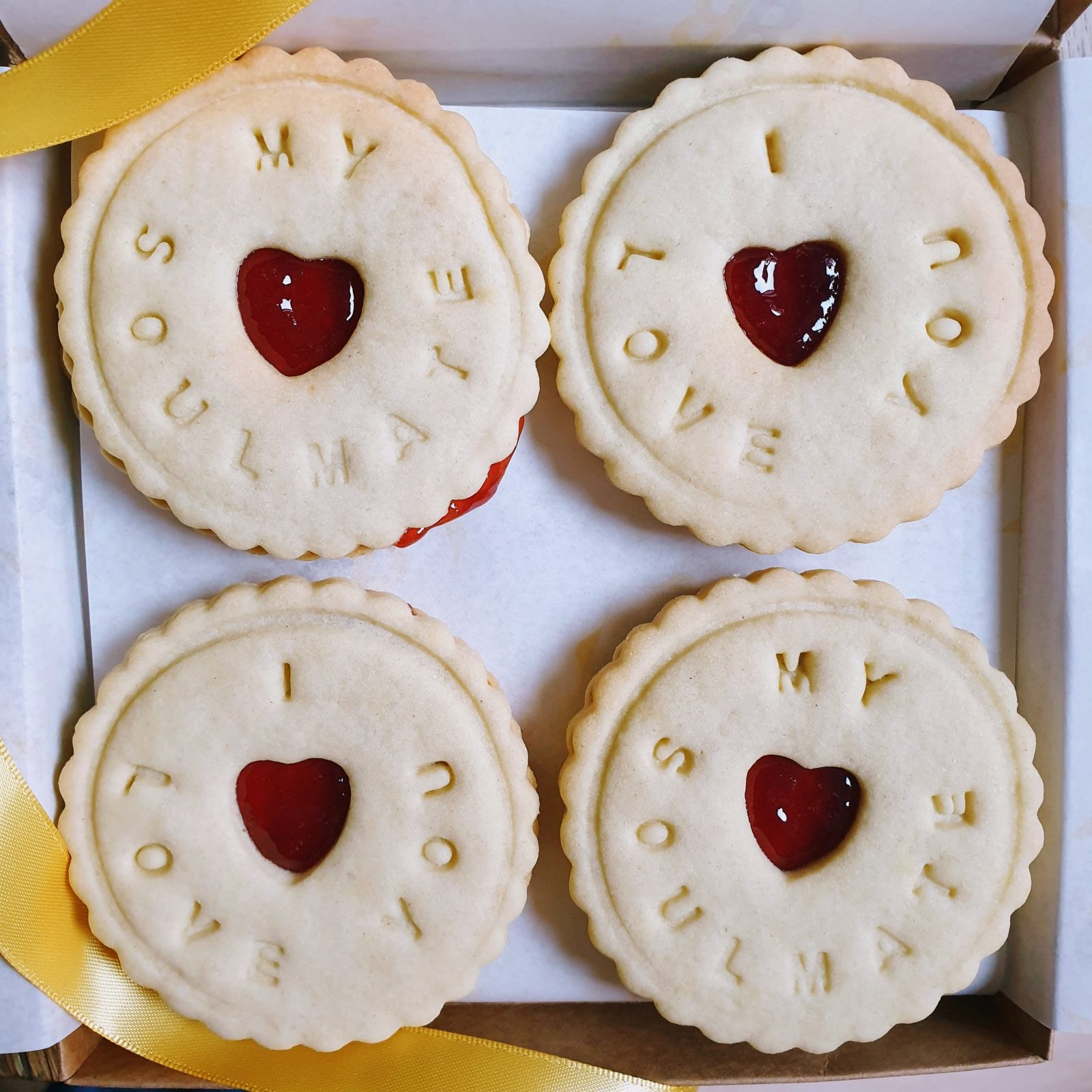 My Soulmate I love you biscuits by Bloom Bakers