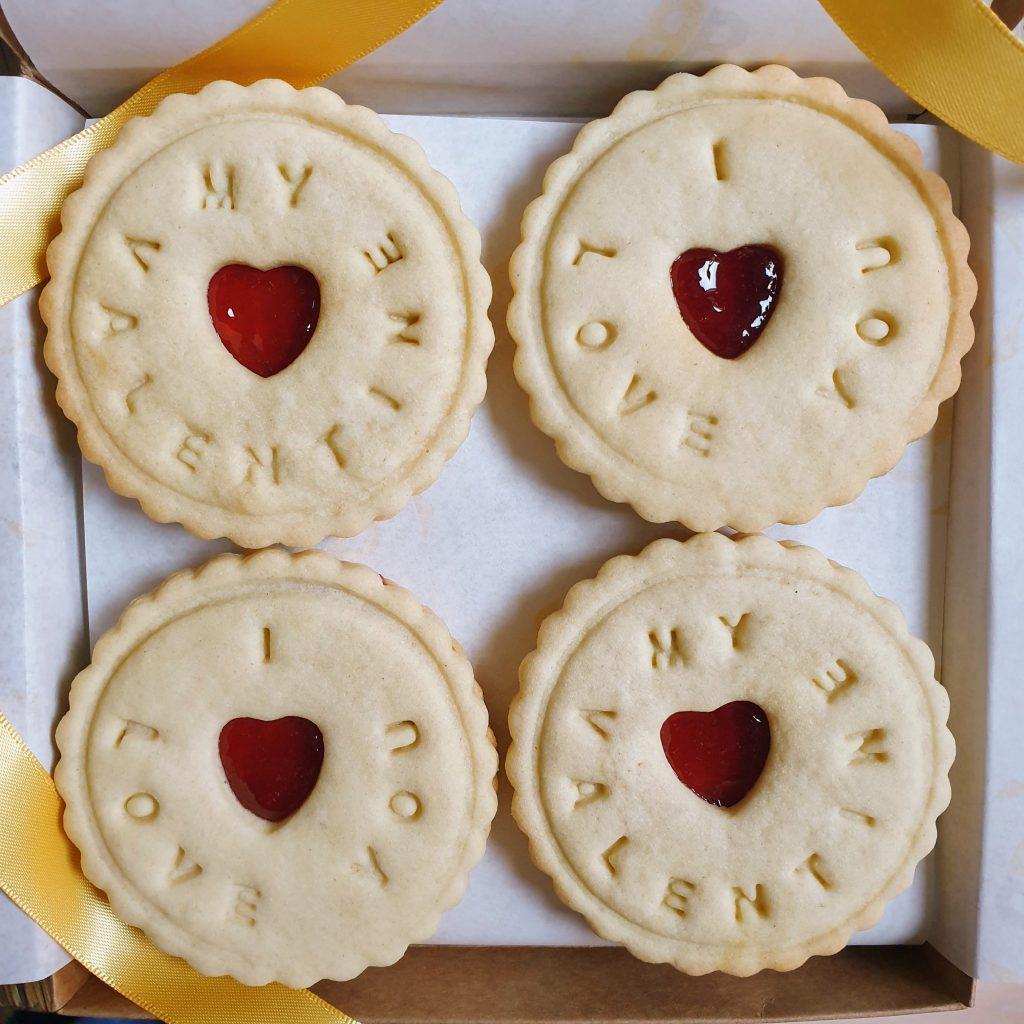 My Valentine I love you biscuits