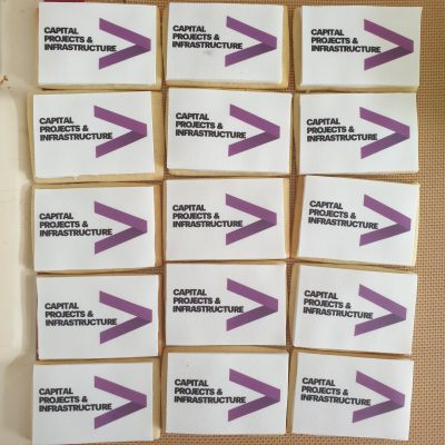 Accenture branded biscuits
