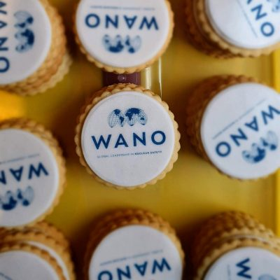 Corporate branded biscuits for Wano