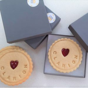 Jam biscuits for Clarion by Bloom Bakers