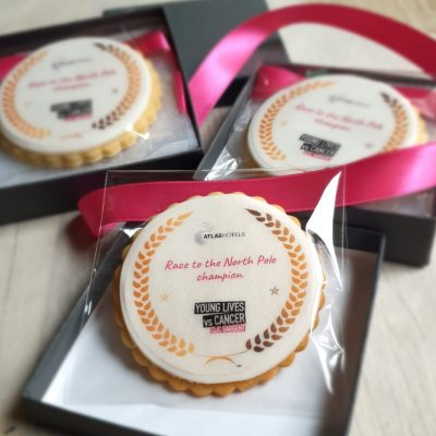Atlas Hotel branded biscuits made by Bloom Bakers