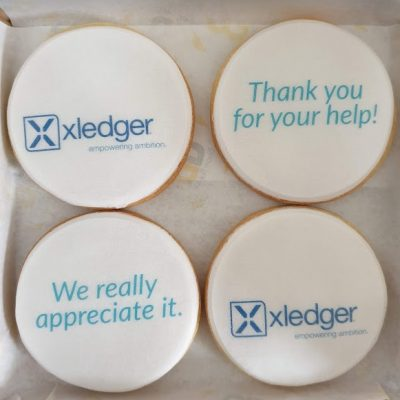 Xledger thank you biscuits