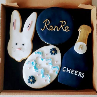 Hand iced easter biscuits for RenRe