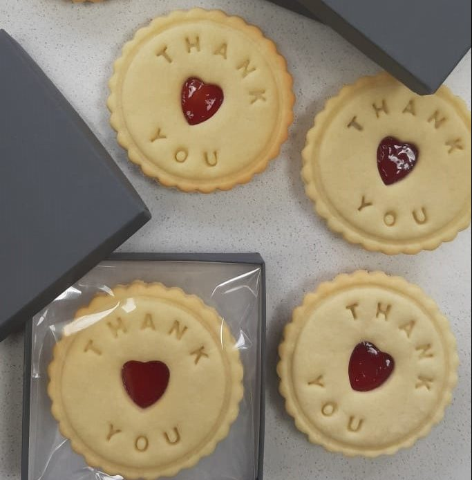 Thank you biscuits from Bloom Bakers