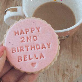 Happy second birthday biscuit