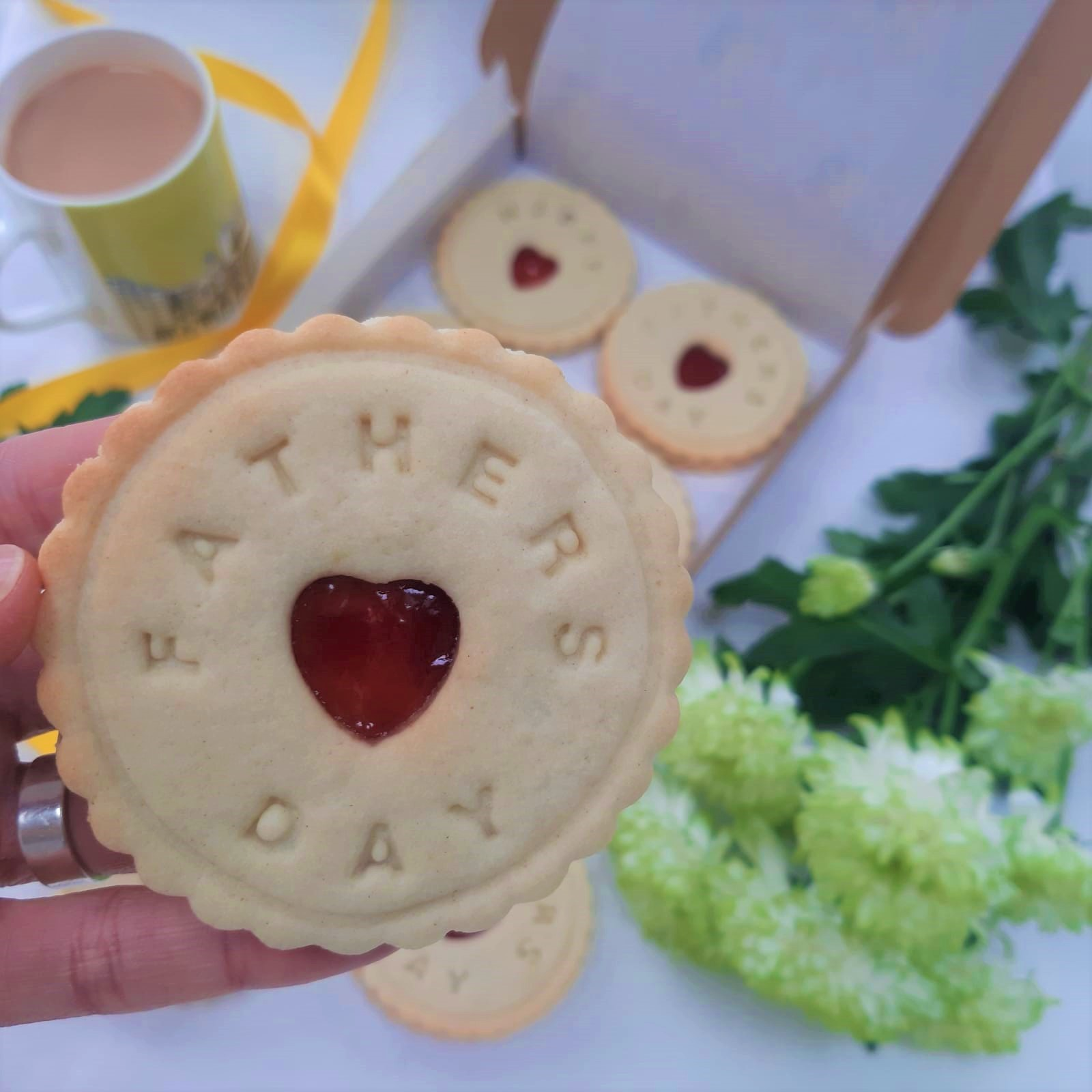 Fathers's Day biscuit by Bloom Bakersclose up