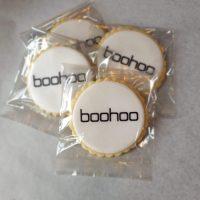 Boohoo bespoke biscuits created by Bloom Bakers