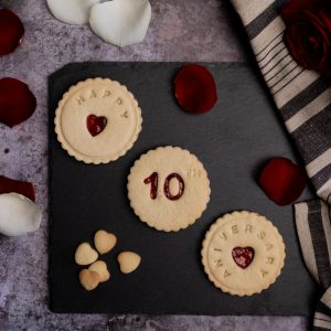 Anniversary biscuits