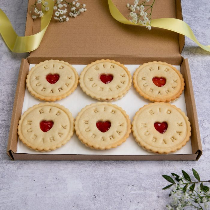 Eid biscuits in Letterbox friendly packaging