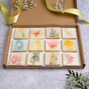 Garden flower biscuit