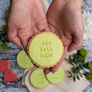 Iced get well soon biscuits
