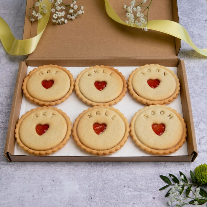 get well soon biscuits in letterbox friendly packaging