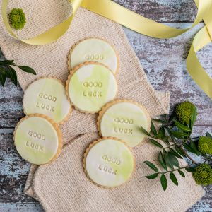 iced good luck biscuits