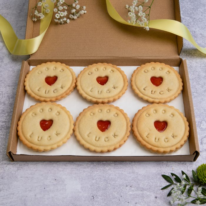 Good luck biscuits in letterbox friendly gift box