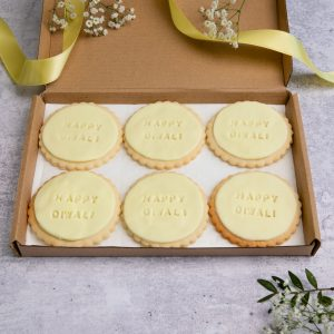 iced diwali biscuits