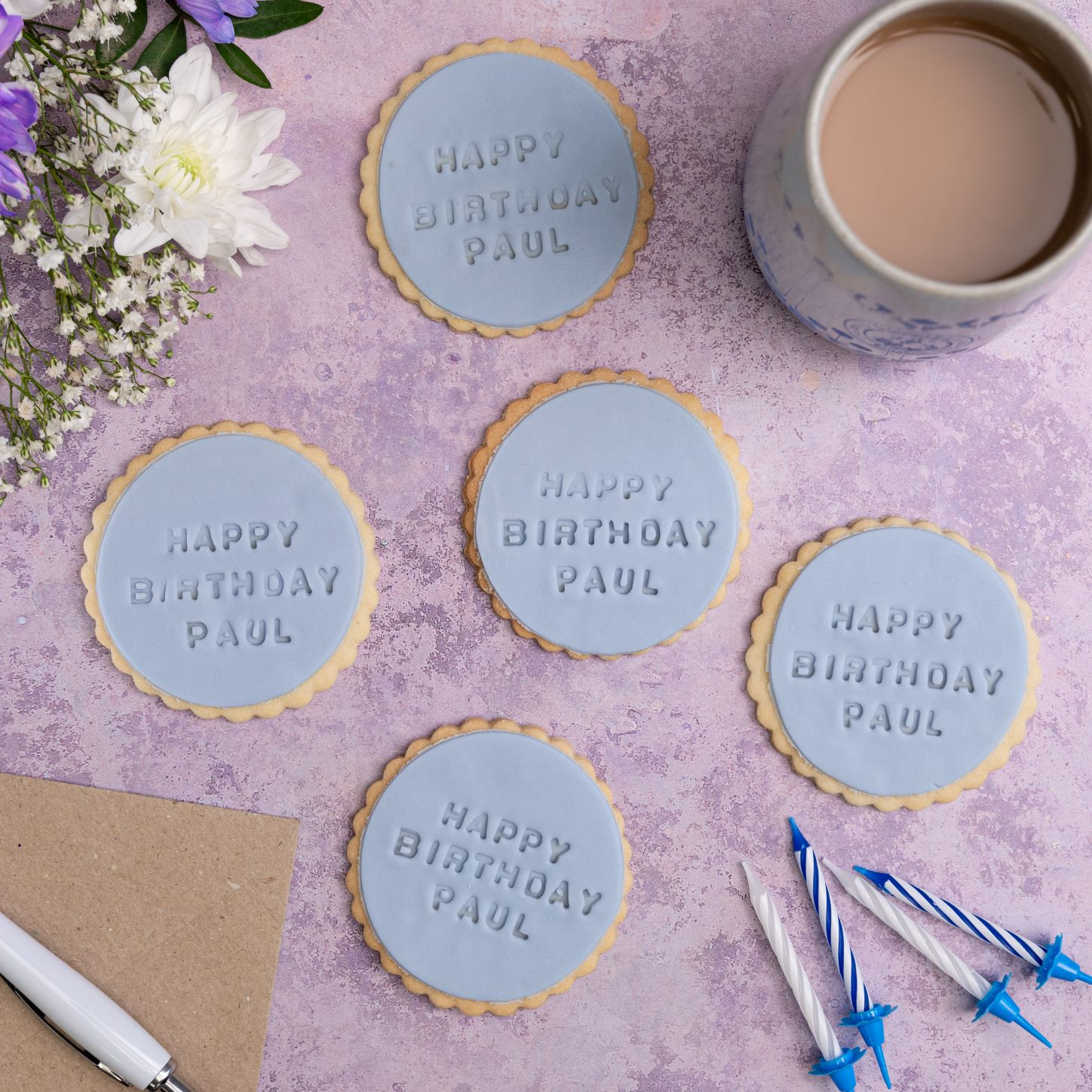 iced birthday biscuits