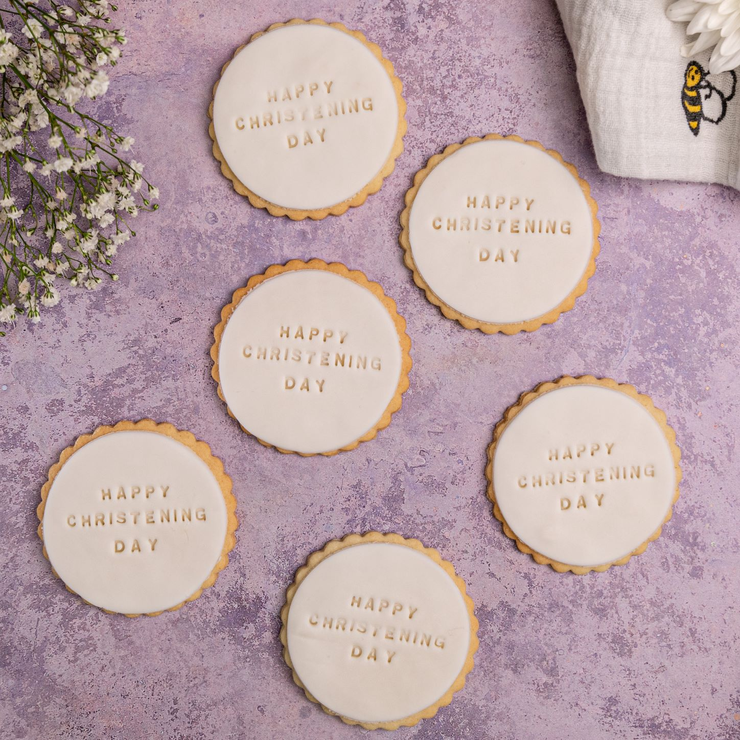 Iced Christening biscuits