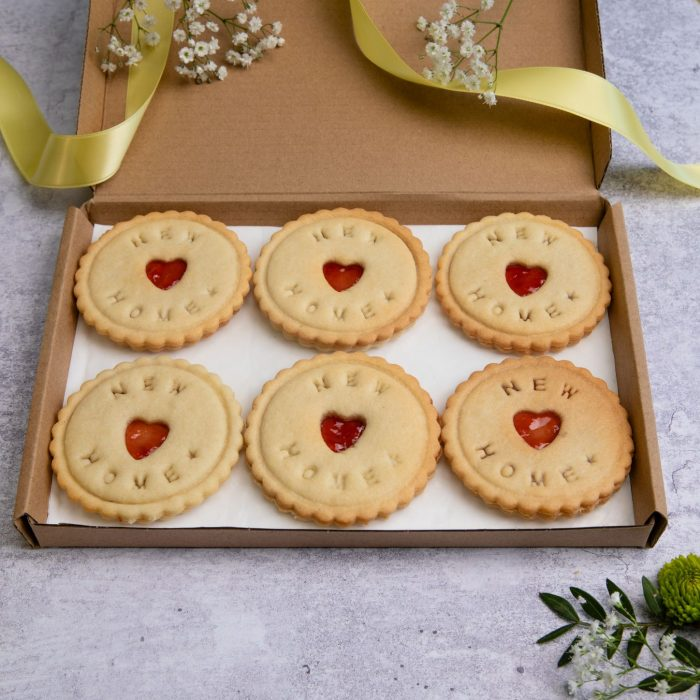 New home biscuits in letterbox friendly packaging