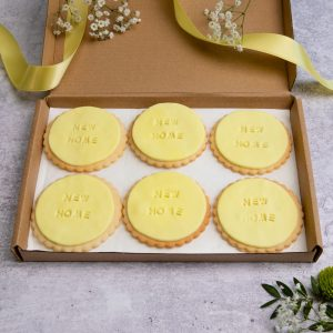 iced new home biscuits in box