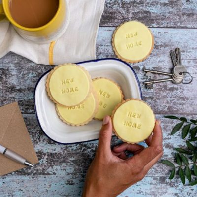 iced new home biscuits by bloom bakers