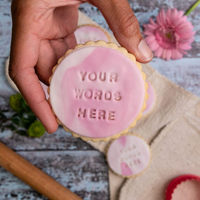 Personalised iced biscuits