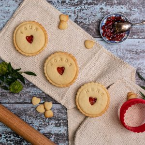 Your words here jam biscuits to personalise