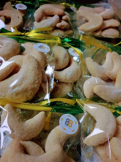 Vanilla Kipferl dor Norwich Football Club baked by Bloom Bakers