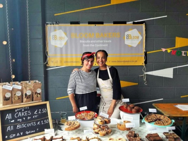 Lisa and Saskia Co-founders of Bloom Bakers at Eat North Street food event