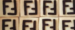 Fendi branded biscuits made by Bloom Bakers