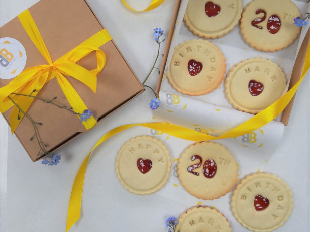 Birthday biscuits by post